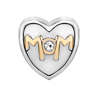 Mom Jewelry - MOTHER JEWELRY HEART SHAPED I LOVE MOM BEADS CHARMS BRACELETS FIT ALL BRANDS alternate image 2.