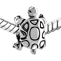 European Beads - TURTLE SILVER PLATED BEADS CHARMS BRACELETS alternate image 1.
