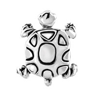 European Beads - TURTLE SILVER PLATED BEADS CHARMS BRACELETS alternate image 2.