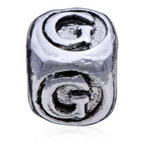 European Beads - DICE SHAPED LETTER G SILVER PLATED BEADS CHARMS BRACELETS alternate image 2.