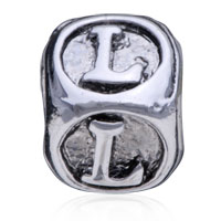 Charms Beads - DICE SHAPED LETTER BRACELET CHARMS INITIAL L ALPHABET EUROPEAN BEAD alternate image 2.