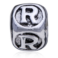 Charms Beads - DICESHAPED LETTER BRACELET CHARMS INITIAL R ALPHABET EUROPEAN BEAD alternate image 2.