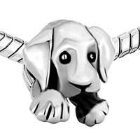 European Beads - CUTE PUPPY DOG ANIMAL ALL BRANDS SILVER PLATED BEADS CHARMS BRACELETS alternate image 1.