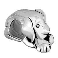 European Beads - CUTE PUPPY DOG ANIMAL ALL BRANDS SILVER PLATED BEADS CHARMS BRACELETS alternate image 2.