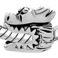 Charms Beads - SILVER PLATED EUROPEAN BEAD CHARM BRACELETS CHINESE DRAGON EUROPEAN alternate image 1.