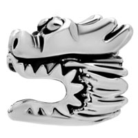 Charms Beads - SILVER PLATED EUROPEAN BEAD CHARM BRACELETS CHINESE DRAGON EUROPEAN alternate image 2.