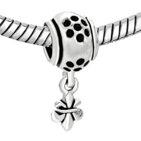 Charms Beads - FLEUR DE LIS CHARM BRACELET DANGLE EUROPEAN BEAD CHARMCHARM BRACELET alternate image 1.
