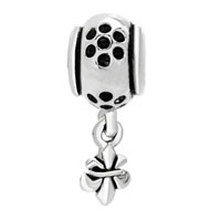 Charms Beads - FLEUR DE LIS CHARM BRACELET DANGLE EUROPEAN BEAD CHARMCHARM BRACELET alternate image 2.