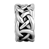 European Beads - CELTIC KNOT SPACER WHEEL SILVER PLATED BEADS CHARMS BRACELETS alternate image 2.