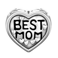Charms Beads - SILVER HEART CHARM BRACELET BEST MOM EUROPEAN INFANT CHARM BEAD alternate image 2.