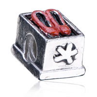 - NEW RED LEATHER SHOES EUROPEAN CHARM BEAD BRACELET alternate image 1.