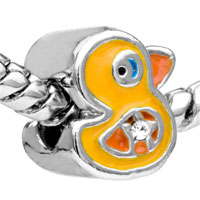 European Beads - FUNNY DUCK SILVER PLATED BEADS CHARMS BRACELETS alternate image 1.