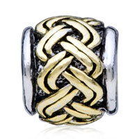 European Beads - GOLDEN CELTIC WEAVE TWO TONE PLATED BEADS CHARMS BRACELETS alternate image 2.