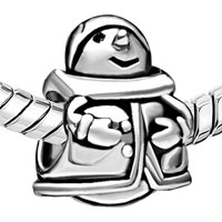 Charms Beads - SILVER EUROPEAN INFANT CHARM BEAD CHARMS BRACELETS SNOWMAN PATTERN alternate image 1.