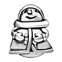 Charms Beads - SILVER EUROPEAN INFANT CHARM BEAD CHARMS BRACELETS SNOWMAN PATTERN alternate image 2.