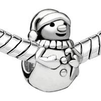 Charms Beads - EUROPEAN BEAD CHARM BRACELETS SNOWMAN EUROPEAN BEAD CHARM BRACELETS alternate image 1.