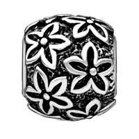 European Beads - ROUND SHAPED POINSETTIA SILVER PLATED BEADS CHARMS BRACELETS alternate image 1.