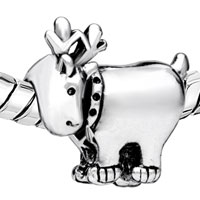 Charms Beads - SILVER PLATED DEER EUROPEAN BEAD CHARM INFANT CHARM BRACELETS CHARM alternate image 1.