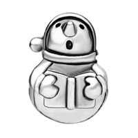 Charms Beads - SILVER SNOWMAN AND BOOK INFANT BEADS CHARMS BRACELETS FIT ALL BRANDS alternate image 2.