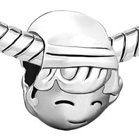 Charms Beads - SILVER PLATED BOY IN HAT EUROPEAN BEAD CHARMS BRACELETS CARTOON alternate image 1.