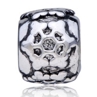 European Beads - ENGREVED SNOWFLAKE SILVER PLATED BEADS CHARMS BRACELETS alternate image 1.