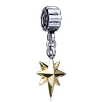 Charms Beads - GOLDEN STAR FIT ALL BRANDS DANGLE EUROPEAN BEADS CHARMS BRACELETS alternate image 1.