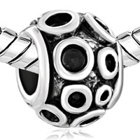 European Beads - MANY CIRCULAR SHAPE SILVER PLATED BEADS CHARMS BRACELETS alternate image 1.