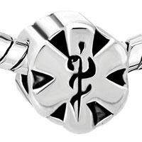 Charms Beads - EMERGENCY MEDICAL SERVICES STAR OF LIFE EMS BEADS CHARMS BRACELETS FIT ALL BRANDS alternate image 1.