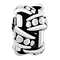 European Beads - DRUM SPACER WHEEL SILVER PLATED BEADS CHARMS BRACELETS alternate image 2.