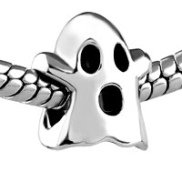 European Beads - HALLOWMAS GHOST SILVER PLATED BEADS CHARMS BRACELETS alternate image 1.