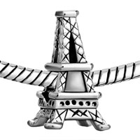 Charms Beads - SILVER PLATED PARIS EIFFEL TOWER EUROPEAN BEAD CHARMS BRACELETS alternate image 1.