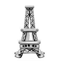 European Beads - PARIS EIFFEL TOWER FIT ALL BRANDS SILVER PLATED BEADS CHARMS BRACELETS alternate image 1.