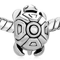 European Beads - TORTOISE SHAPE SILVER PLATED BEADS CHARMS BRACELETS alternate image 1.