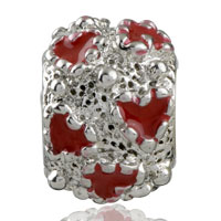 Charms Beads - SILVER RED HEART CHARM BRACELET LOVE EUROPEAN INFANT CHARM BEAD alternate image 2.