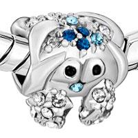 Charms Beads - BLUE SWAROVSKI CRYSTAL CUTE CRAB BEADS CHARMS BRACELETS JEWELRY alternate image 1.