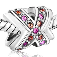 Charms Beads - BREAST CANCER CHARM AWARENESS CELTIC CLADDAGH IRISH CROSS RIBBON PINK alternate image 1.