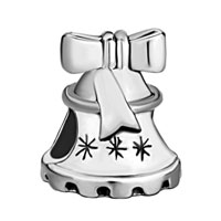 Charms Beads - SILVER LOVELY BELL BOW EUROPEAN INFANT CHARM BEAD CHARMS BRACELETS alternate image 2.