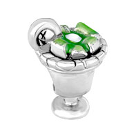 Charms Beads - SILVER PLATED CUTE CAPPIE EUROPEAN BEAD CHARM INFANT CHARM BRACELETS alternate image 2.