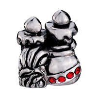 Charms Beads - JANUARY BIRTHSTONE DOUBLE CANDLES EUROPEAN BEAD CHARMS BRACELETS alternate image 2.