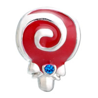Charms Beads - SWEET RED DRIP LOLLIPOP CRYSTAL DECEMBER BIRTHS SILVER BEADS CHARMS alternate image 2.