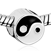 Sterling Silver Jewelry - ARRAY YIN &  YANG 925  STERLING SILVER FIT BEADS CHARMS BRACELETS ALL BRANDS alternate image 1.