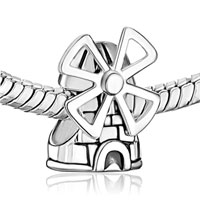 Sterling Silver Jewelry - WINDMILL TOWER STERLING SILVER FIT BEADS CHARMS BRACELETS ALL BRANDS alternate image 1.