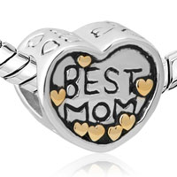 Sterling Silver Jewelry - MOM CHARMS HEART BEADS CHARMS 925 STERLING SILVER BEADS alternate image 1.
