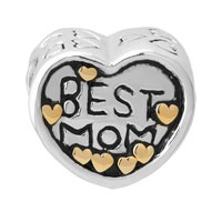 Sterling Silver Jewelry - MOM CHARMS HEART BEADS CHARMS 925 STERLING SILVER BEADS alternate image 2.