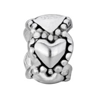 Sterling Silver Jewelry - 925  STERLING SILVER HEARTS LOVE FITS BEADS CHARMS BRACELETS FIT ALL BRANDS alternate image 2.