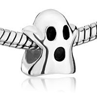 Sterling Silver Jewelry - 925  STERLING SILVER CUTE GHOST JEWELRY HALLOWMAS FITS BEADS CHARMS BRACELETS FIT ALL BRANDS alternate image 1.
