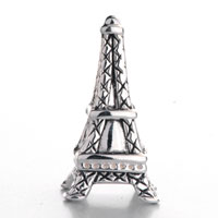 Sterling Silver Jewelry - 925  STERLING SILVER EIFFEL TOWER FITS BEADS CHARMS BRACELETS FIT ALL BRANDS alternate image 2.