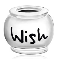 Sterling Silver Jewelry - 925  STERLING SILVER ROUND ENGRAVED WORDS WISH GIFT FITS BEADS CHARMS BRACELETS FIT ALL BRANDS alternate image 2.