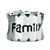 Sterling Silver Jewelry - 925 STERLING SILVER FAMILY OF CHRISTMAS TREE CHARM COLORFUL SWAROVSKI CRYSTAL BEAD COMPATIBLE FITSCHARM BRACELET alternate image 2.