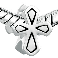 Sterling Silver Jewelry - 925  STERLING SILVER DOUBLE SIDE CELTIC CROSS BEADS CHARMS BRACELETS FIT ALL BRANDS alternate image 1.